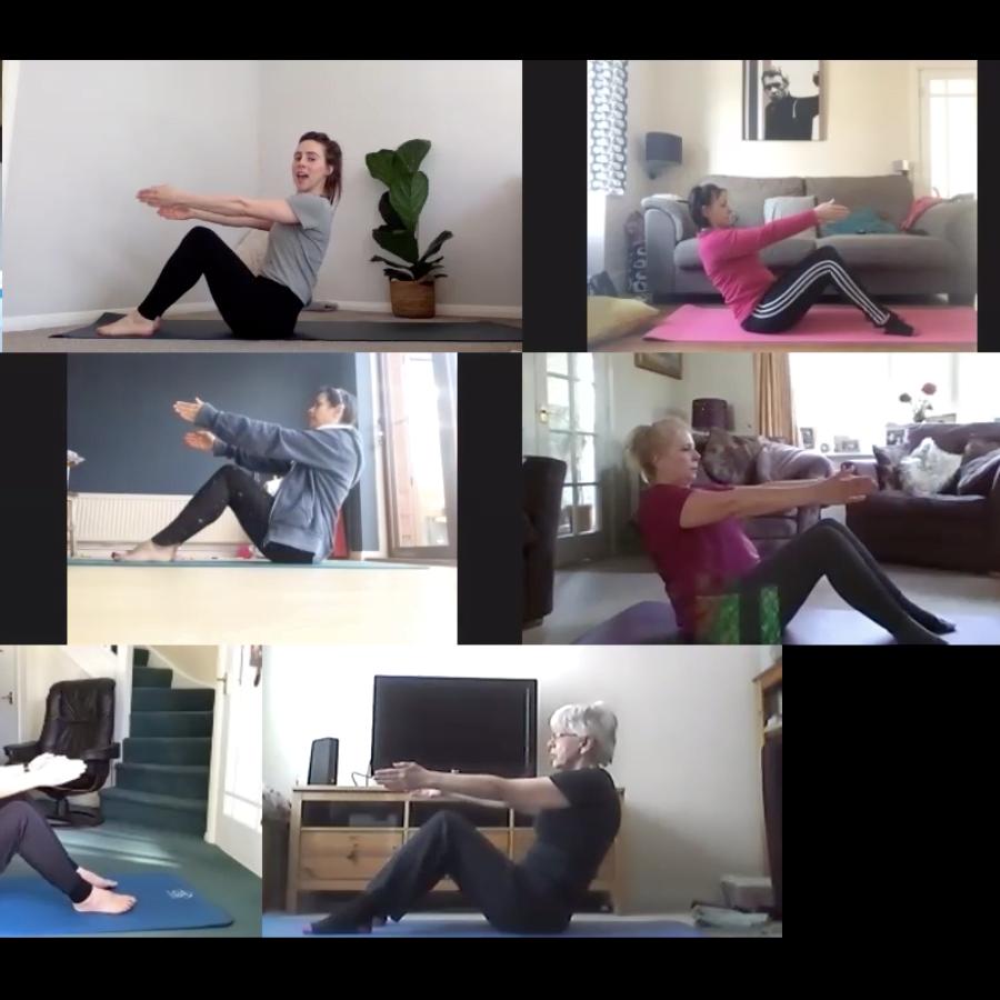 Zoom screenshot - hinge back exercise